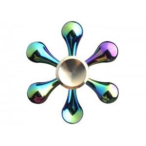 اسپینر فلزی شش پره هفت رنگ